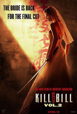 Uma Thurman as Beatrix Kiddo with her deadly Hanzo samurai sword in